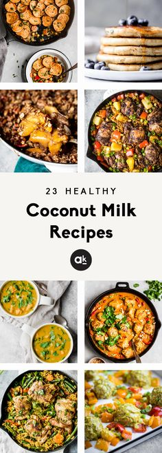 Delicious, healthy coconut milk recipes that are perfect for using up a can of coconut milk! You'll find flavorful dinner recipes and plenty of incredible desserts that are naturally dairy free thanks to coconut milk. Healthy Eating Tips, Easy Healthy Dinners, Healthy Cooking, Healthy Dinner Recipes, Healthy Snacks, Coconut Milk Recipes, Paleo Recipes, Cooking Recipes, Is Coconut Milk Healthy