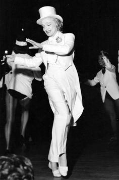 Marlene Dietrich performing in Las Vegas, 1959