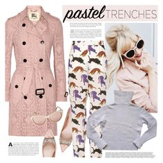 """""""Pastel Trenches"""" by houseofhauteness ❤ liked on Polyvore featuring Burberry, Miu Miu, STELLA McCARTNEY, Prada, BCBGMAXAZRIA and pasteltrenches"""