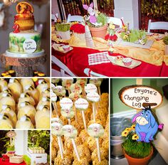 Welcome to the Hundred Acre Woods! Adorable Winnie the Pooh Birthday Party (with printables by One Inspired Party)! http://hwtm.me/1075yfg