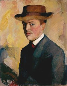 Selbstbildnis mit Hut (Self Portrait with Hat), August Macke