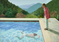 """Matthew Sperling writes about David Hockney's pool paintings. A retrospective of works by David Hockney will be on view at Tate Britain from February 9 - May 29, 2017. Sperling writes: """"... on arrival in California ... one particular feature of the architecture, previously only seen in black and white photographs, struck Hockney with fresh intensity... Without yet knowing it, Hockney had discovered his great subject. The swimming pool would become the setting for many of his major pa..."""