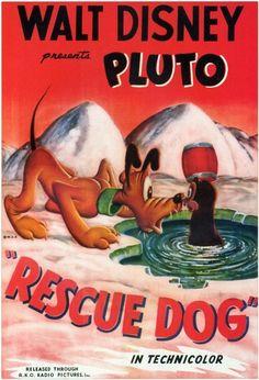 Poster from Rescue Dog Walt Disney, Disney Pixar, Retro Disney, Pluto Disney, Disney Wiki, Disney World Parks, Vintage Disney, Disney Animation, Disney Love