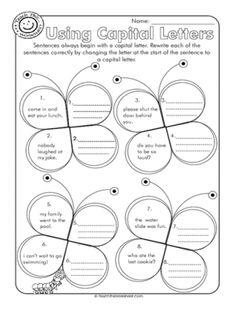 Capital Letter Worksheets Worksheets   Education   Pinterest ...