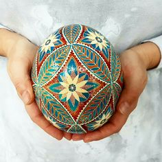 Ostrich egg shell pysanka ready in 2 weeks. only one left in stock