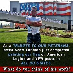 We Salute You Scott LoBaido, well done! I Love America, God Bless America, America America, American Pride, American Flag, Independance Day, American Legions, Let Freedom Ring, Land Of The Free