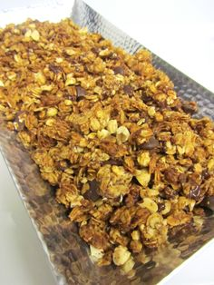 Peanut Butter Choc Chip Granola...not sure i'd add the choc chips.... it is suppose to be for bfast....