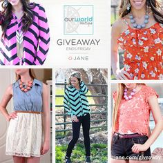 I hope I get lucky   I just entered this giveaway from Jane.com and Our World Boutique!