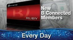 Share this with your friends and earn B Connected Social Points to enter valuable prize giveaways. New B connected members may receive up to $5,000 in Slot Dollars. Sign up today to receive a minimum of $10 in Slot Dollars guaranteed!     It's good to B Connected!