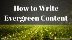 'How to Write Evergreen Content.' Creating in-depth relevant content is required for small business owners and entrepreneurs these days. In this blog, I explain evergreen content, discuss what question you need to ask yourself if you are the one responsible for publishing content in your company, give three keys to creating evergreen content, list resources for both evergreen and non-evergreen content, and give tips on how to share it. Read more at…