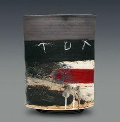 Raku Pottery, Pottery Sculpture, Pottery Mugs, Pottery Art, Ceramic Wall Art, Ceramic Pots, Ceramic Clay, Japanese Ceramics, Japanese Pottery