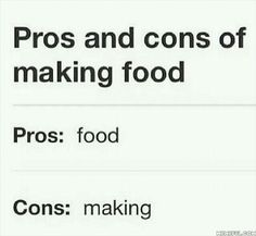 Haha. Making food