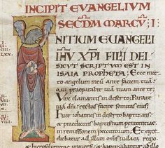 fol 317 : détail .Marc, l'Evangéliste http://www.bn-limousin.fr/items/show/2913