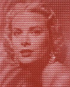 Kim Dong Yoo makes portraits of icons, but made up of images of someone else...for example, Grace Kelly here is actually a composite of images of Clark Gable...cool stuff