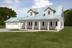 Houseplans.com Plan #497-8 Front Elevation