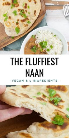 Easy Vegan Naan - if you're into super fluffy flatbreads, then this is THE recipe for you! We're using a yeasty dough that rises in the fridge overnight. Indian Food Recipes, Whole Food Recipes, Vegetarian Recipes, Cooking Recipes, Healthy Recipes, Ethnic Recipes, Baby Recipes, Muffin Recipes, Vegan Naan