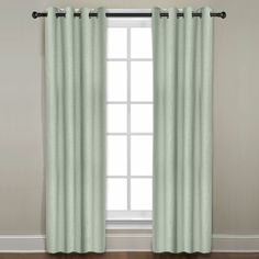 The Veratex Grand Luxe Gotham curtain panel is constructed form 100-percent linen in a sage color. This curtain panel also features a grommet panel construction and a solid pattern design.