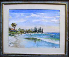 Original Art for sale Original Art For Sale, Sunshine Coast, Watercolours, The Originals, Beach, Painting, The Beach, Painting Art, Beaches