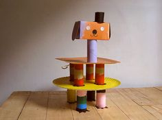 misako mimoko | DIY recup // upcycling ✭ party cake stands ✭ via Handmade Charlotte
