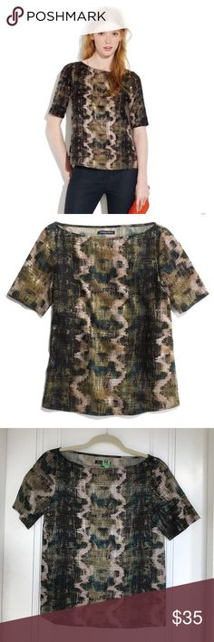 Madewell Sandstamp Top Silk printed top in perfect condition. Dry cleaned and ready to wear. Madewell Tops Blouses