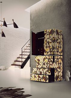 Cabinet, furniture design, product design, exclusive design,luxury design,pixel anodized, Boca do Lobo