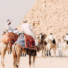 """Men in galabiya conversed from the saddles of their camels in the early morning warmth, waiting for the tourist buses to arrive. Soon the hordes would be upon the pyramids, but right now there was some time to catch up with an old friend."" -@fieldnotes Giza, Egypt #passionpassport"