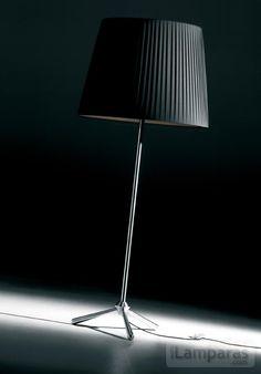 royal f lampara de pie oversize pantalla beige cable marron (ROY00260000) - DAB / iLamparas.com