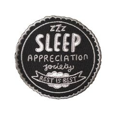 Sleep Appreciation Society Woven Patches | Veronica Dearly Illustration