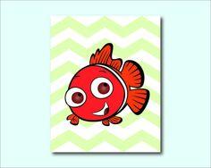 Nemo from Finding Nemo  Nursery or Kids by SusanNewberryDesigns, $15.00