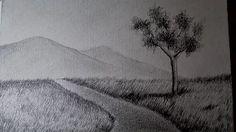 como dibujar paisajes a lapiz paso a paso faciles - YouTube