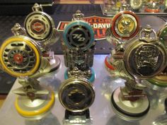 HUGE-39-Harley-Davidson-Franklin-mint-pocket-watches-Collectable-collection-lot