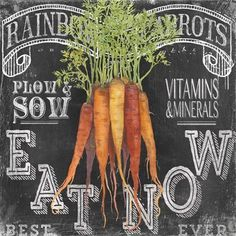 Chalk Veggie Carrots (Geoff Allen)