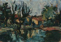 Landscape - Oil on Canvas - Iberê Camargo.