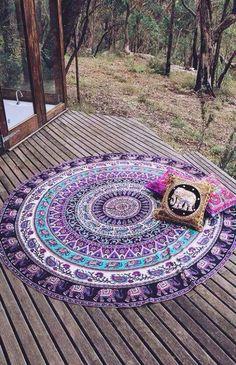 shop Indian Mandala Tapestries Round Beach Throw Wall Hanging Yoga Mat Boho sofa throw on sale. we offer round mandala bedspread or soft sofa blanket throw. Boho Tapestry, Mandala Tapestry, Wall Tapestry, Moon Mandala, Boho Rugs, Jaipur, Boho Lifestyle, Circle Beach Towel, Yoga Studio Design