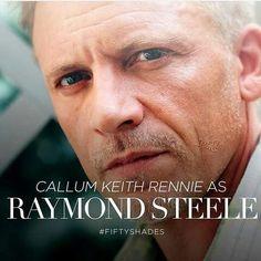 Callum keith rennie As Raymond Steele Ana's step-father. Fifty Shades Cast, Fifty Shades Movie, Fifty Shades Trilogy, Fifty Shades Darker, 50 Shades, Jennifer Ehle, Callum Keith Rennie, Anastasia, Film Base