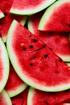 Cold slice of watermelon on a hot day