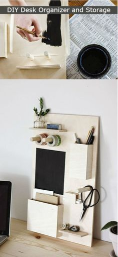 "diyncraftz: ""DIY Desk Organizer and Storage Organization and storage has never been easier with this DIY Desk Organizer and Storage. Things can be messy at times in office space so get your crafting..."