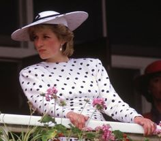 celebrities at the races. Princess Diana