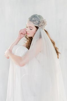 The LUCIENNE Grey Juliet Veil is from our new 2016 Collection  Our heart is full. This veil it truly beautiful and unique, perfect for the
