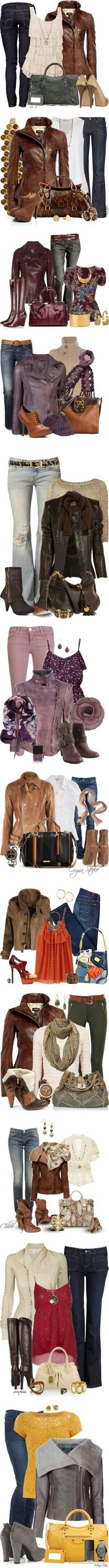 I love leather jackets. Collect ALL the leather jackets! Fall Winter Outfits, Autumn Winter Fashion, Look Fashion, Fashion Outfits, Fashion Trends, Vetements Shoes, Casual Mode, Casual Outfits, Cute Outfits