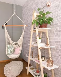 House Plants Decor, Plant Decor, Room Ideas Bedroom, Bedroom Decor, Aesthetic Room Decor, Bedroom Plants, Plant Shelves, Decoration, Room Inspiration