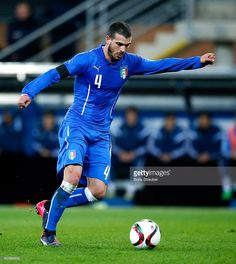 Stefano Sturaro of Italy runs with the ball during the U21 International friendly match between...
