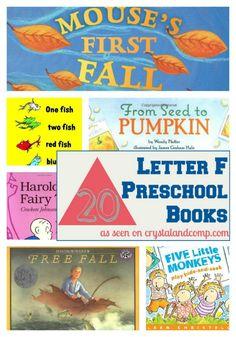 20 Letter F Preschool Books