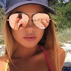 Cheap mirrored aviator sunglasses, Buy Quality aviator sunglasses directly from China aviator sunglasses women Suppliers: New Fashion Flat Lens Mirror aviation Sunglasses Women Stylish Sun Glasses Lady Men Metal Frame Eyewear High Quality Gold Sunglasses, Cat Eye Sunglasses, Mirrored Sunglasses, Sunglasses Women, Sunglasses Sale, Sunnies, Stylish Sunglasses, Luxury Sunglasses, Reflective Sunglasses