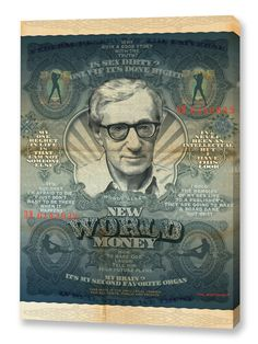 New World Money Woody Graphic Art on Wrapped Canvas