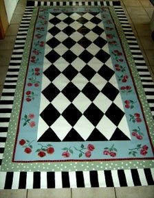 Painted Floor Cloths, Painted Rug, Hand Painted Furniture, Painted Floors, Stenciled Floor, Furniture Redo, Furniture Projects, Porch Flooring, Best Flooring