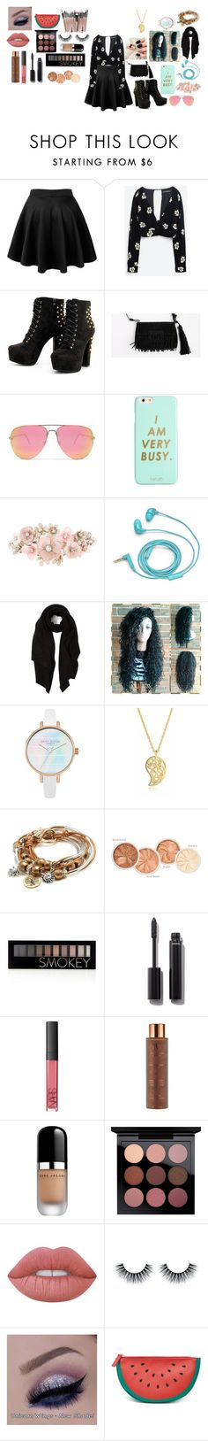 """""""blac"""" by mickeykaii ❤ liked on Polyvore featuring Zara, Quay, ban.do, Accessorize, FOSSIL, Cash Ca, Sonal Bhaskaran, Lizzy James, Forever 21 and Chanel"""