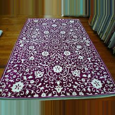 Silk Road Burgundy / Ivory Indoor Rug.