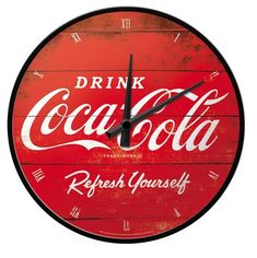 Nostalgic Art 51074 Coca-Cola-logo Refresh your self orologio da parete 31 cm, Rosso Coca Cola Logo, Pepsi Cola, Vintage Coca Cola, Mirror Wall Clock, Coca Cola Christmas, Always Coca Cola, World Of Coca Cola, Kitchen Wall Clocks, Soda Fountain