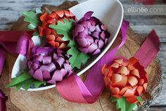 This blog shows step by step how to make these paper mums.